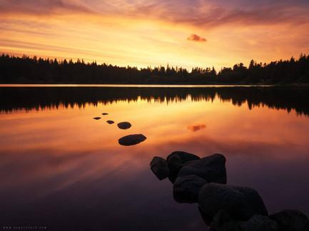Lac coucher de soleil 63