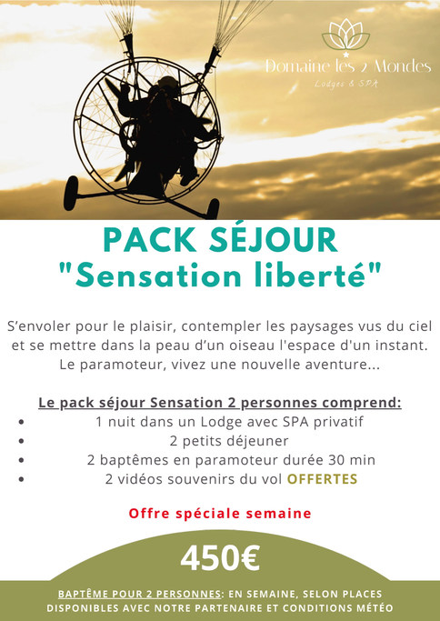 pack séjour sensation 2