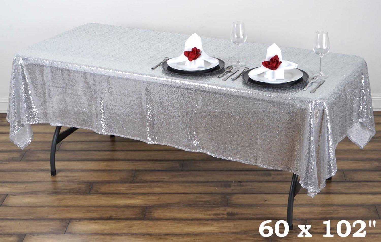 rectangular sequin table cloth