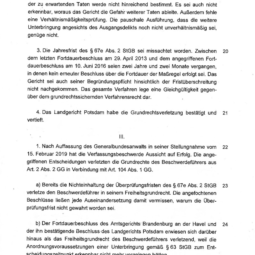 Beschluss BVerfG 2 BvR 2256-17 v. 03.07.