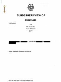 Post aus Karlsruhe - BGH hebt Einziehungsentscheidung auf
