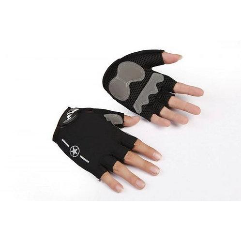 gloves with star Men Women Half Finger With Gel Padded  قفازات نص اصبع