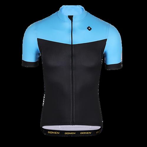 Mens Black/Blue Cycling SS Jersey تي شيرت رياضي اسود ازرق للدراجات الهوائية
