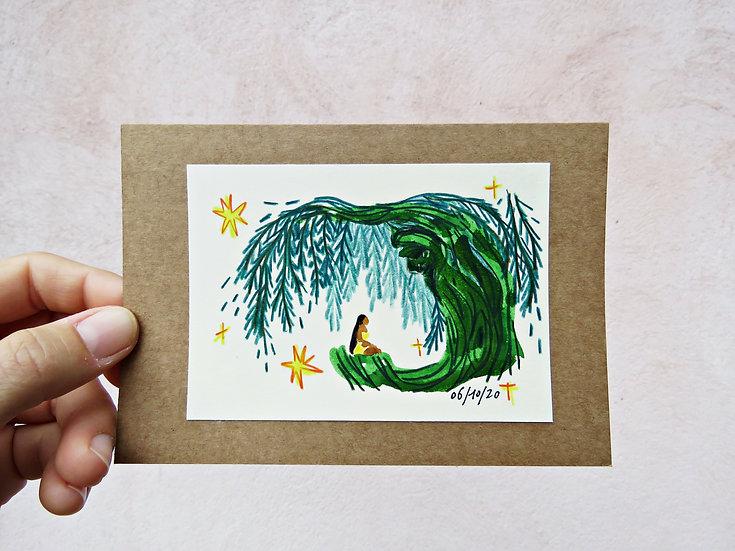 """Un arbre sage"" ILLUSTRATION ORIGINALE"