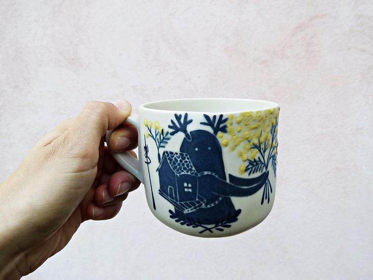 Tasse à thé Vagabond «mimosa mon amour
