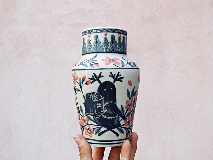 """Vase """"Vagabond fleurs d'amandiers"""""""
