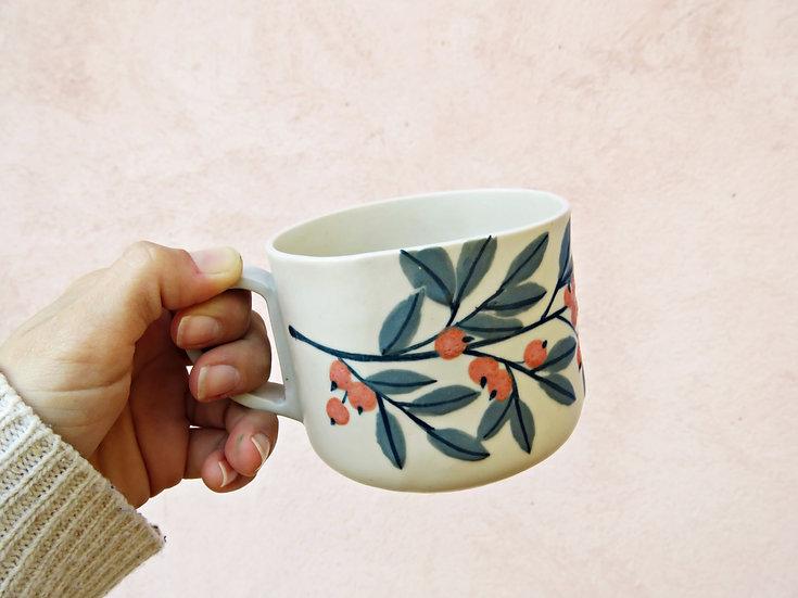 Tasse à thé baies oranges