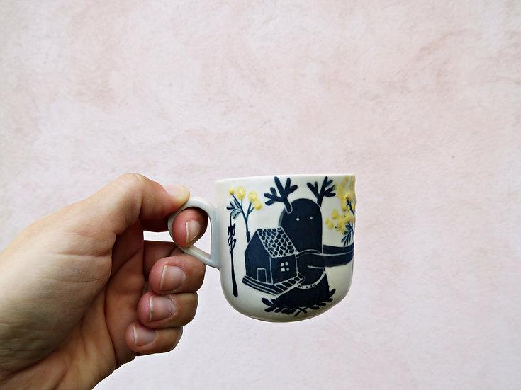 """Tasse à café """"Vagabond mimosa mon amour"""""""