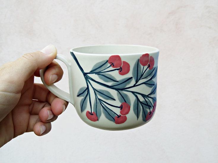 Tasse à thé cerises