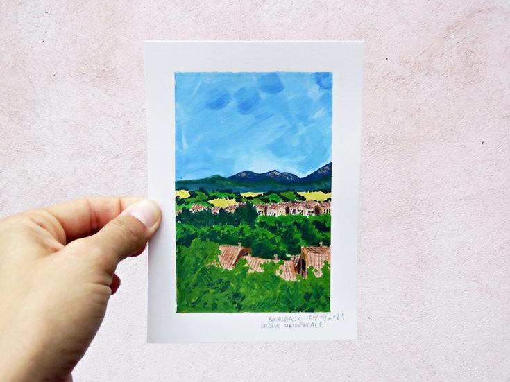 Drôme Provençale - ILLUSTRATION ORIGINALE
