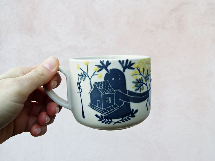 """Tasse à thé """"Vagabond mimosa mon amour"""""""