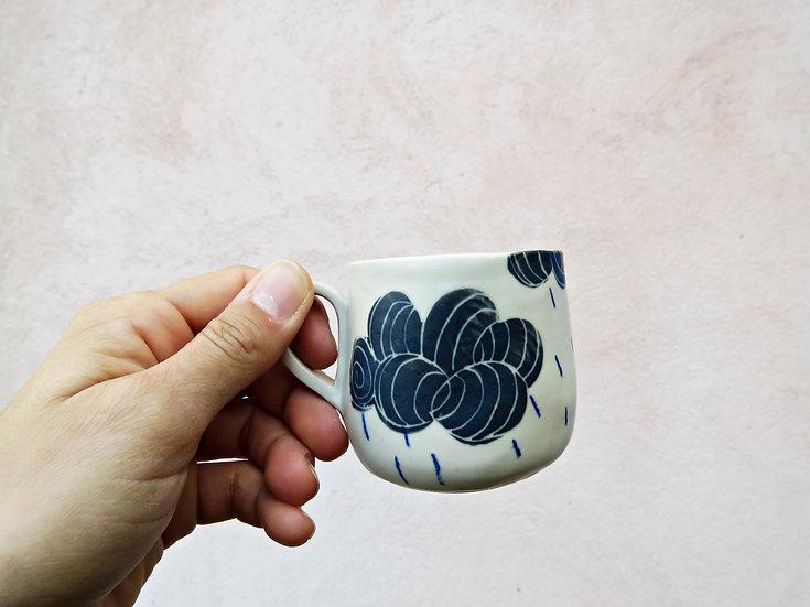 Tasse à café Nuages & pluie