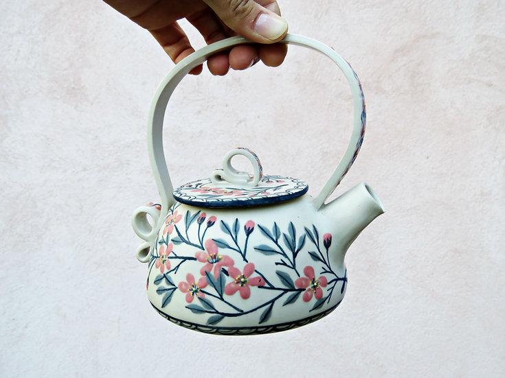 Flowered teapot