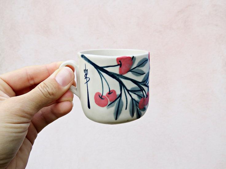 Tasse à café cerises