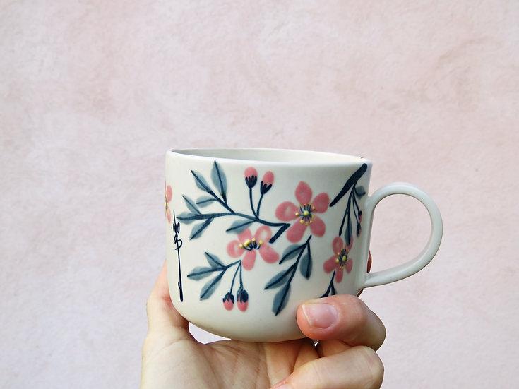 """Tasse à thé """"Fleurs d'amandier"""""""