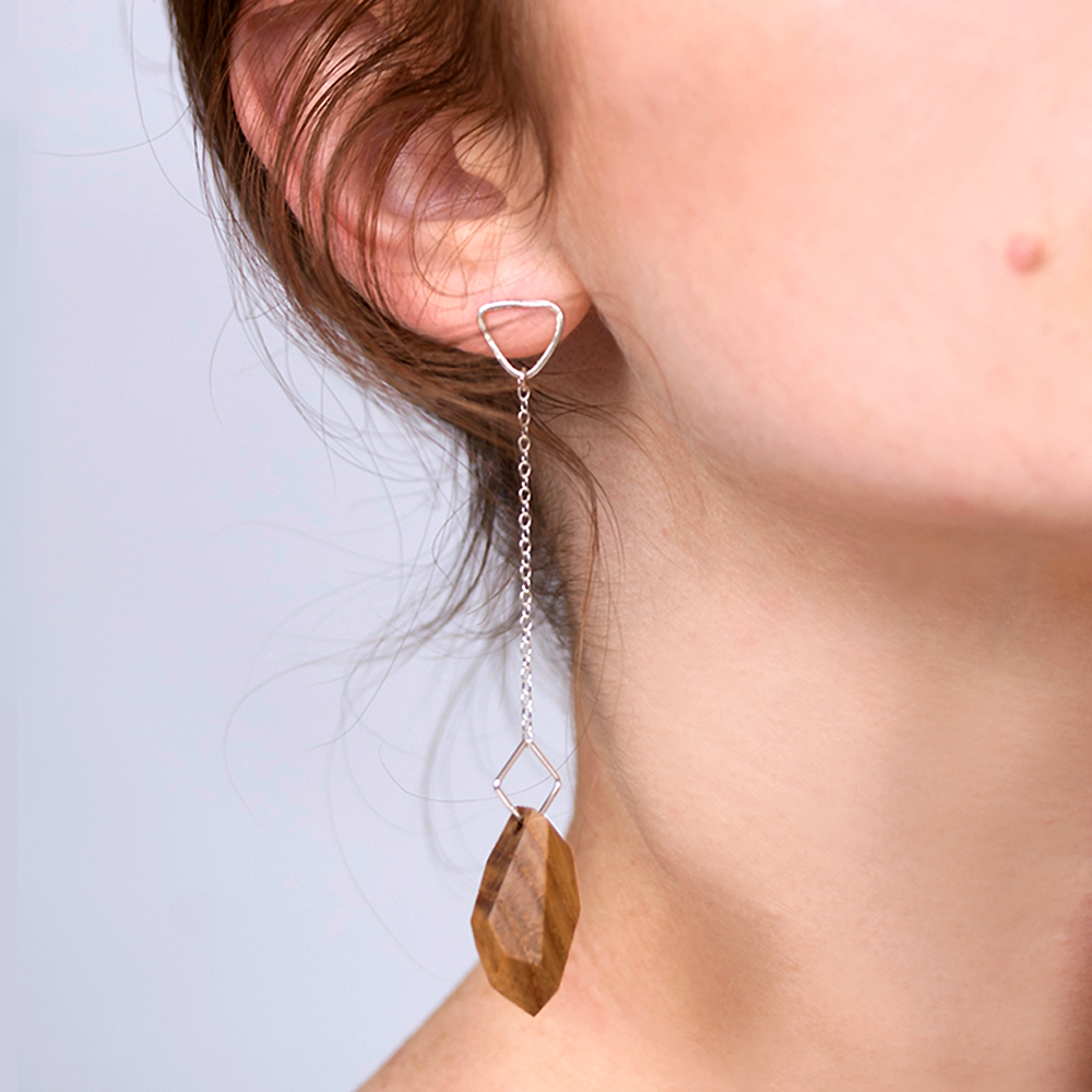 the geo jewel drop earring
