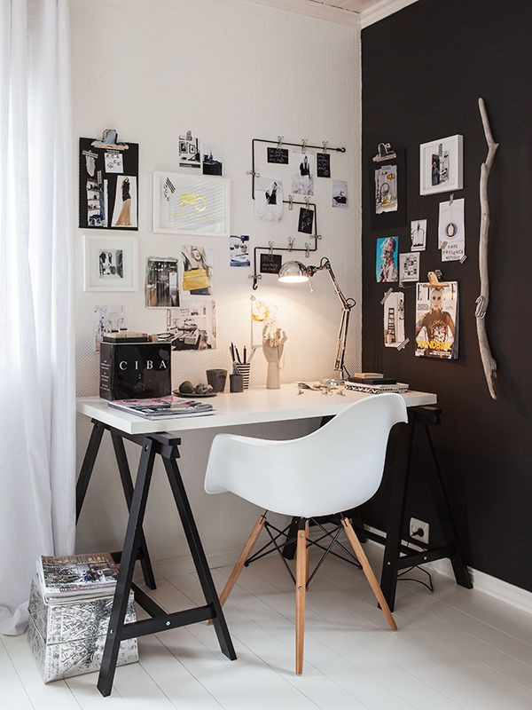 black, white, and wood.