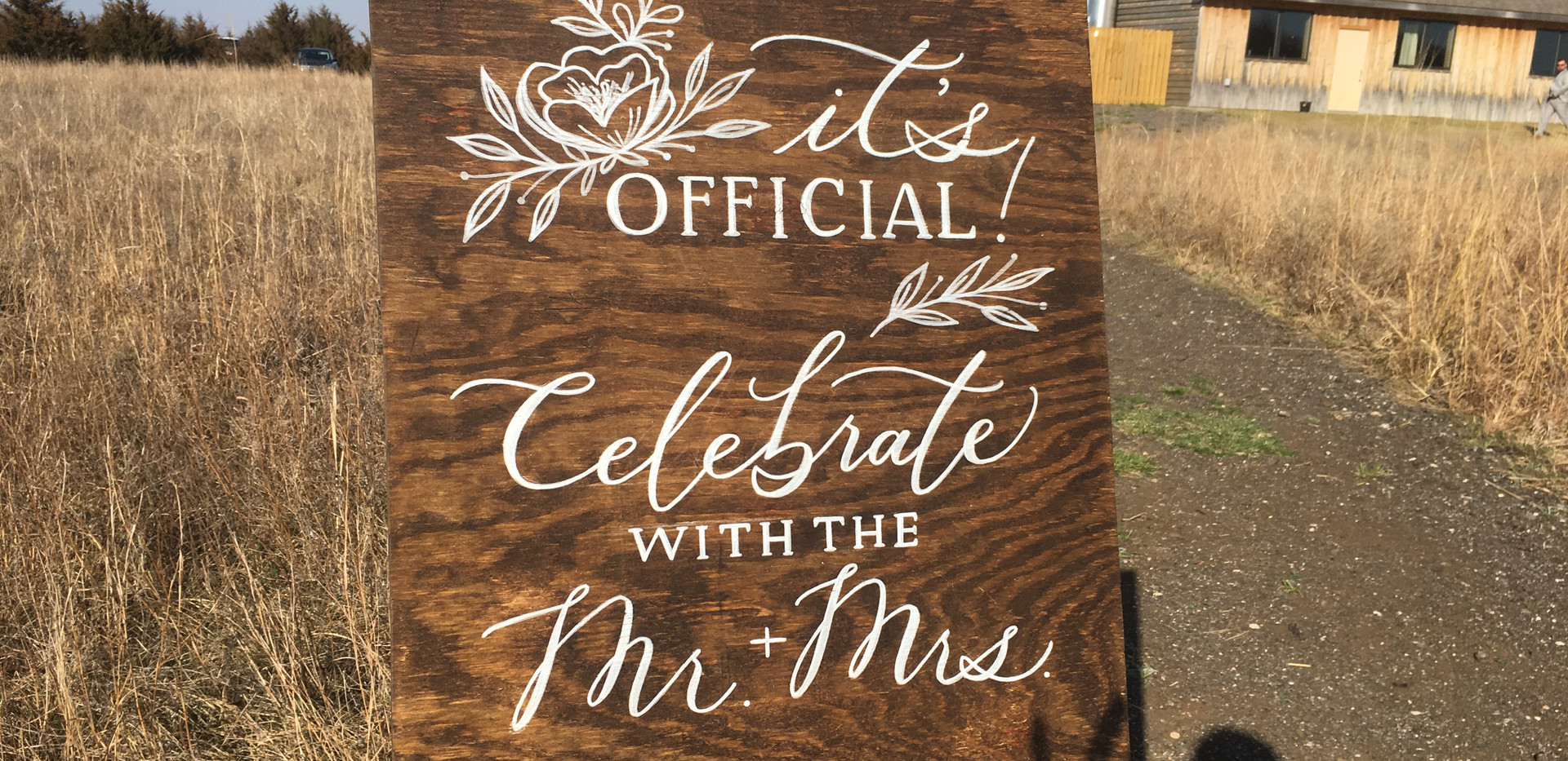 Rustic Wood Reception Sign