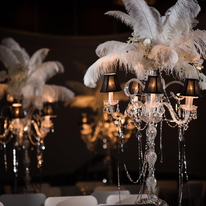 Table Chandelier Centerpieces