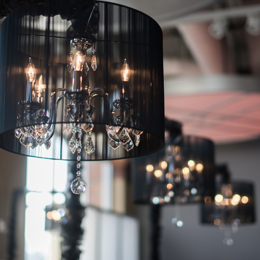 Black Shaded Chandeliers