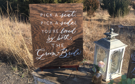 Rustic Wood Ceremony Sign