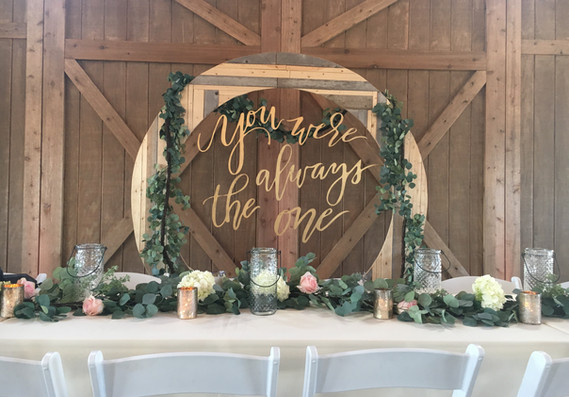 Circle Altar as a Head Table Backdrop