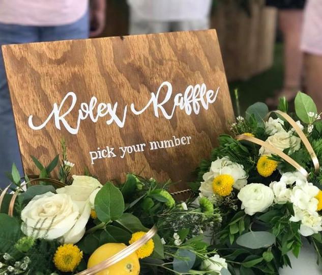 Rolex Raffle Custom Sign