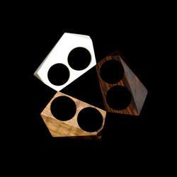 the geo jewel double rings