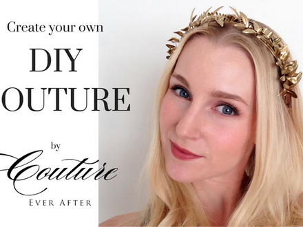 DIY Couture // Natural Gold Halo Hairpiece