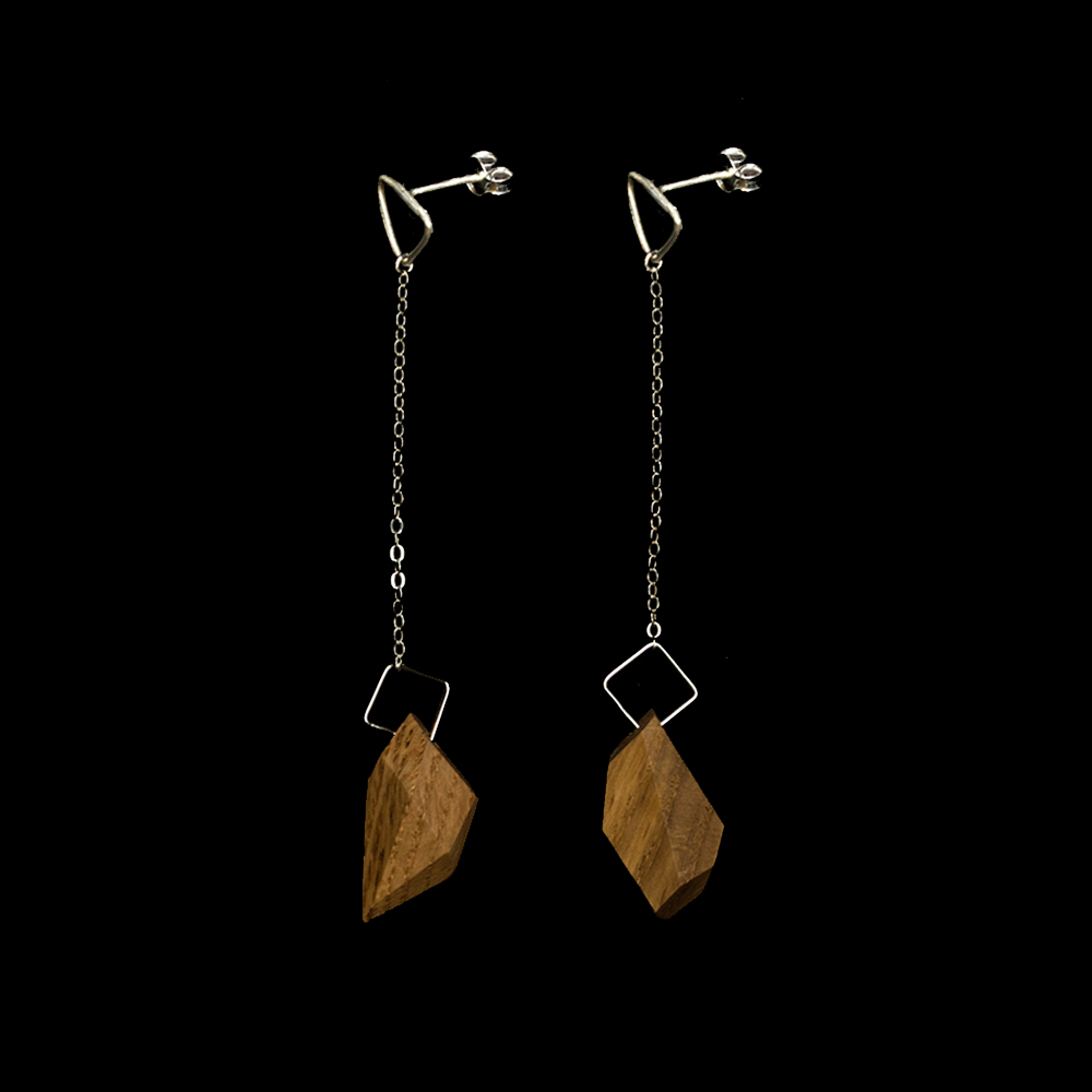 the geo jewel drop earrings