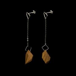 the geo jewel drop earrings