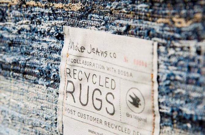 worn out designer jeans = designer rugs.