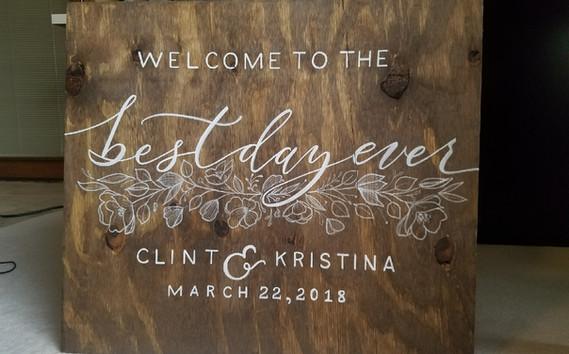 Custom Wedding Wood Sign