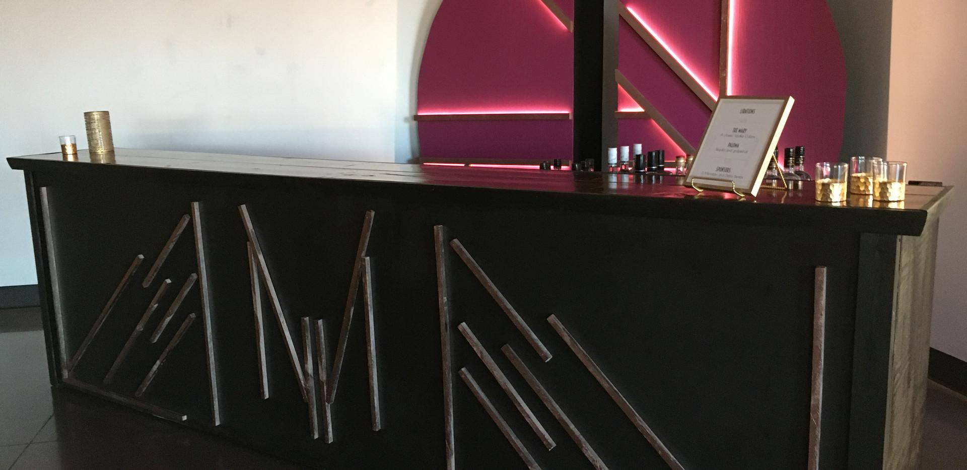 Black Bar with custom front facade
