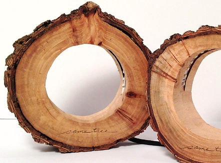 Wooden LED Circle Lights by Same Tree. Modern designed lighting with a natural touch.