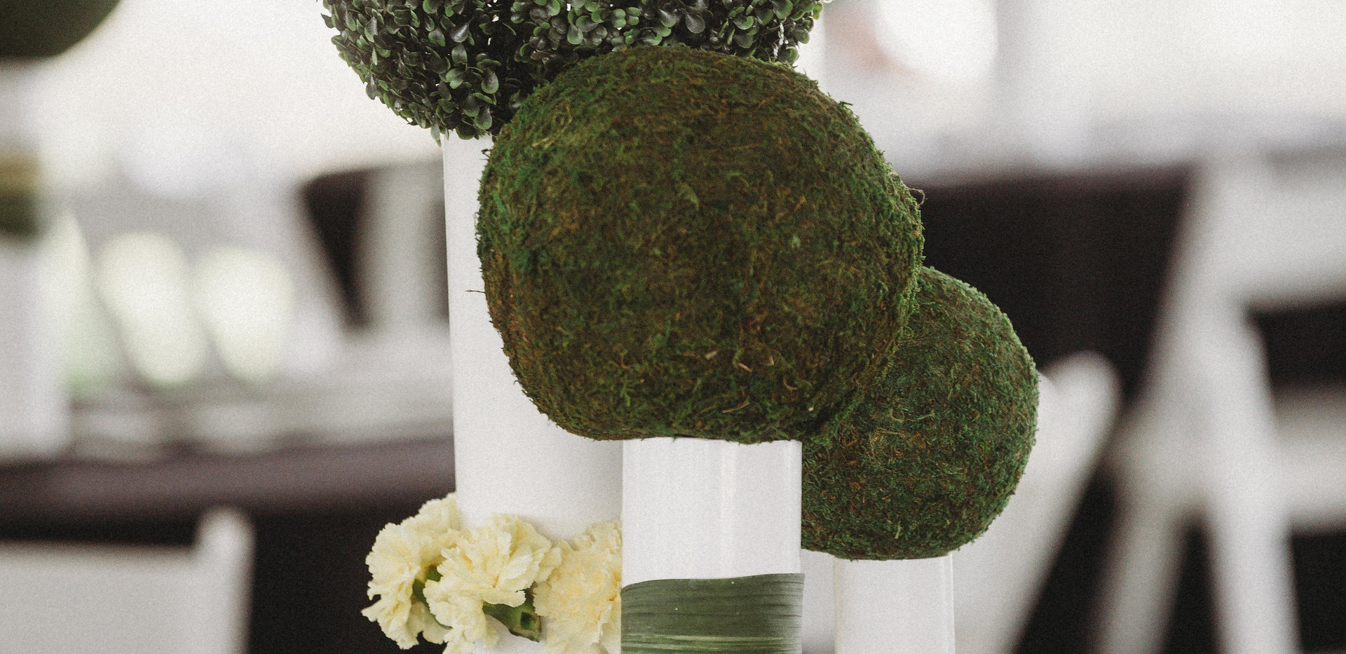 Boxwood Balls and Centerpieces