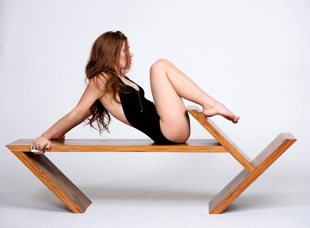 Fashion inspired geometric modern designed furniture with a natural touch