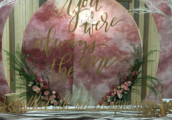 Hand Painted Backdrop and Circle Altar