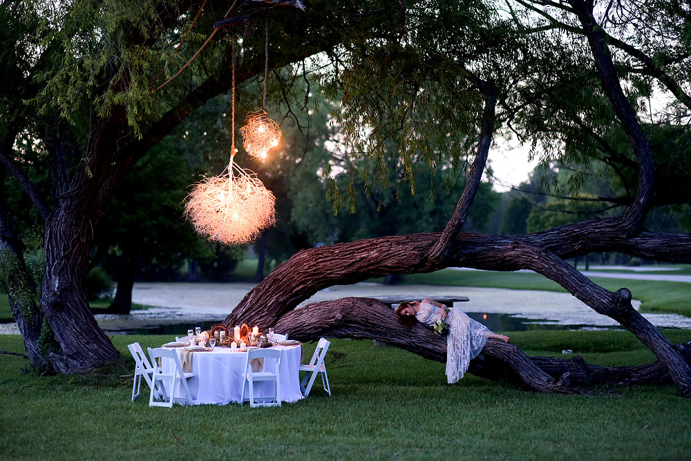 Couture Ever After Natural Bride Outdoor Wedding Reception