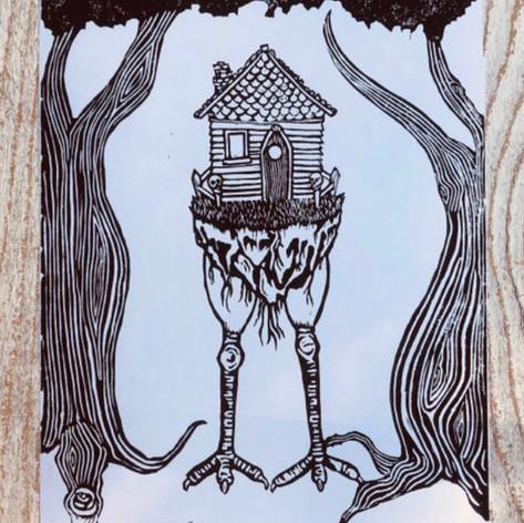 Baba Yaga's Hut by Stephanie Parker