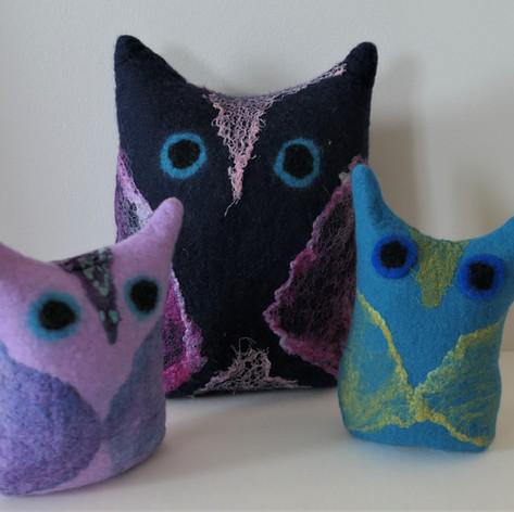 Owl Family by Tonya Vance
