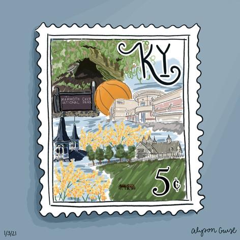 Alyson Cruse Kentucky Stamp