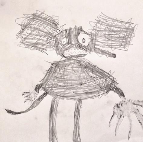 Cartoon Rat by Leon Kelm (age 8)