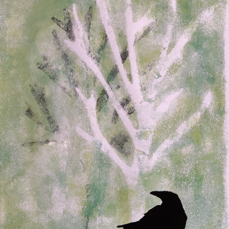 Crow in the Mist by Cathy Vigor
