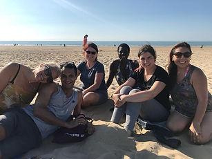 Calais Lighy voluneers beach