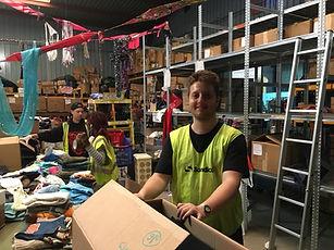 Calais Light volunteer warhouse