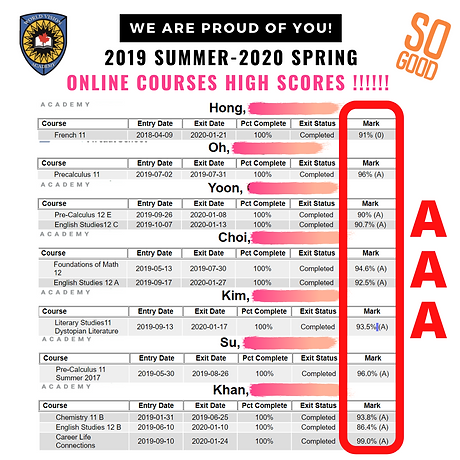 Online Courses High Scores   World Vision Academy