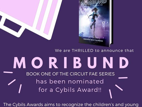 MORIBUND Nominated for a Cybils Award!