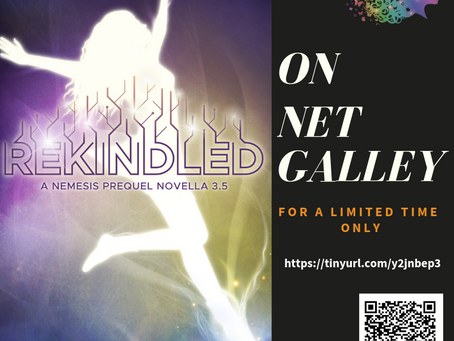 Now on NetGalley: REKINDLED