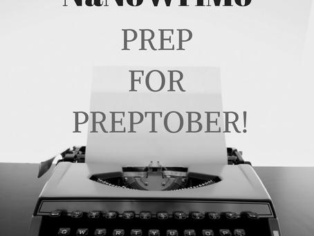 NaNoWriMo: Prep for Preptober!